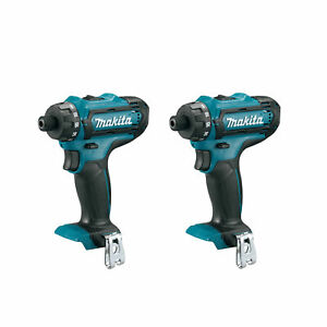 Makita 12v Max Cxt Lithium Ion Cordless 1 4 Hex Driver Drill tool Only 2 Pack