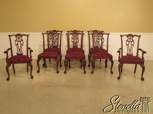 L44283ec Set Of 8 Ethan Allen Claw Foot Mahogany Dining Room Chairs