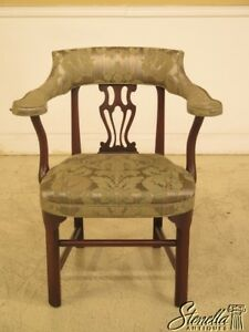 L43942ec Kittinger Cw 43 Colonial Williamsburg Mahogany Smoking Chair
