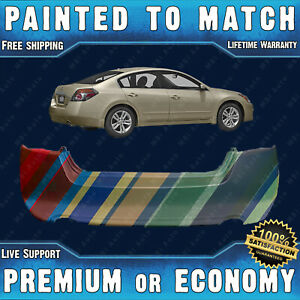 New Painted To Match Rear Bumper Cover Replacement For 2007 2012 Altima Sedan
