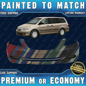 New Painted To Match Front Bumper Cover Fascia For 2005 2007 Honda Odyssey Van