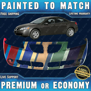 New Painted To Match Front Bumper Cover For 2005 2009 Pontiac G6 Sedan Coupe