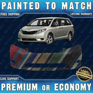New Painted To Match Front Bumper Cover Fascia For 2011 2017 Toyota Sienna Van