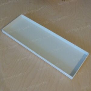 Martha Stewart Stack And Fit Shagreen Tray white