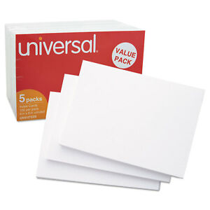 Universal Unruled Index Cards 4 X 6 White pack Of 4