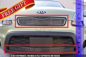 Gtg Polished 2pc Overlay Combo Billet Grille Grill Kit Fits 2012 2013 Kia Soul