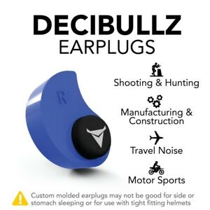Decibullz Custom Molded Earplugs 31db Highest Nrr Shooting Travel Concerts