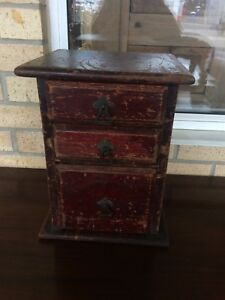Antique Victorian Stained Pine Collector S Cabinet