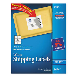 Avery White Shipping Labels W ultrahold Ad Trueblock box Of 600