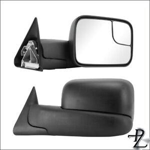 Left Right Pair Manual Tow Flip Up Side Mirror For 94 01 Ram 1500 02 2500 3500