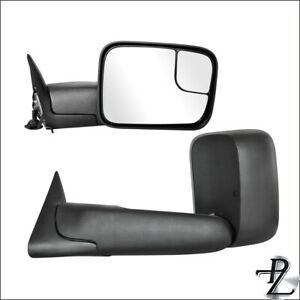 Pair Set Tow Towing Power Side Mirror For 94 97 Dodge Ram 1500 2500 3500 Pickup