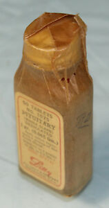 Antique Vintage Eli Lilly Company No 1075 Pituitary Whole Gland Tablet Bottle