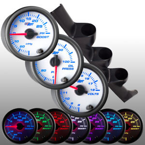 Glowshift 52mm Triple Pillar Pod 3 White 7 Gauges For 93 97 Honda Del Sol