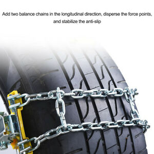 Wheel Tire Snow Anti Skid Chains For Car Truck Suv Emergency Winter Driving