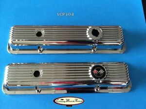 69 74 Camaro Z28 Lt1 69 77 Corvette Chrome Over Aluminum Valve Covers