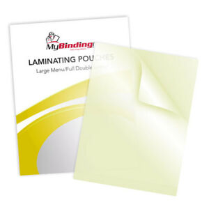 New 5mil Large Menu Size Sticky Back Laminating Pouches 12 X 18 100pk