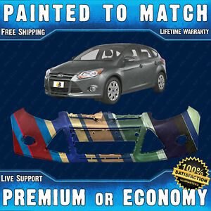 Painted To Match Front Bumper Cover Replacement For 2012 2013 2014 Ford Focus