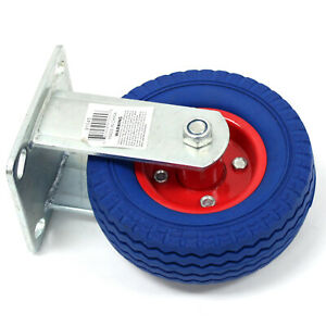 6 X 2 Rigid Caster Wheel Fixed Never Flat Free Slotted Plate Dolly