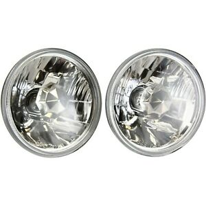 Universal H5006 Crystal Clear Conversion Headlight 5 Round Lamp With Bulb