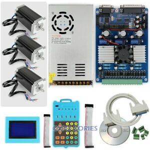 Cnc Professional 3 Axis Tb6560 Stepper Driver Set 2 5nm Motor psu keypad display