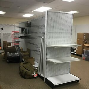 4 Double Sided Gondolas 1 End Cap Section Shelves