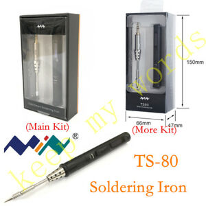 Ts80 Mini New Smart Portable Digital Oled Soldering Iron Tool With Plug Typec 9v