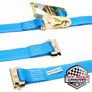 2 Pack 2 X 16 E Track Ratchet Tie Down Straps Etrack Truck Trailer Cargo Load