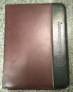 Genuine Leather Maroon black Texas A m Business Portfolio Writing Pad