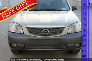 Gtg 1999 2004 Mazda Tribute 3pc Polished Overlay Billet Grille Grill Kit