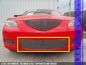 Gtg 2007 2009 Mazda 3 Sedan 1pc Polished Replacement Bumper Billet Grille