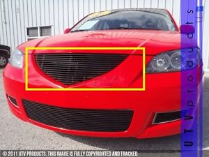 Gtg 2007 2009 Mazda 3 Sedan 1pc Gloss Black Upper Replacement Billet Grille