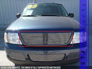 Gtg 2002 2005 Ford Explorer 1pc Polished Upper Replacement Billet Grille Grill