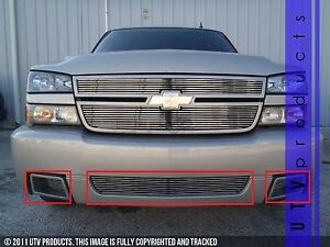 Gtg 2006 Chevy Silverado Ss 1500 3pc Polished Overlay Bumper Billet Grille Kit