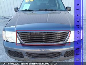 Gtg 2002 2005 Ford Explorer 1pc Gloss Black Upper Replacement Billet Grille