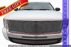 Gtg 2007 2013 Chevy Silverado 1500 1pc Polished Billet Grille Grill