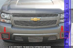 Gtg 2007 2014 Chevy Tahoe 2pc Polished Bumper Accent Billet Grille Grill Kit