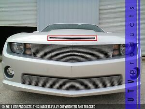 Gtg 2010 2013 Chevy Camaro Ss 1pc Polished Hood Scoop Billet Grille Insert