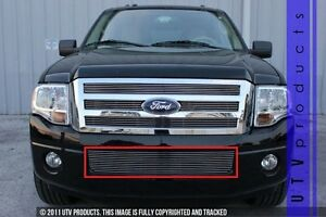 Gtg 2007 2014 Ford Expedition 1pc Polished Bumper Billet Grille Grill Insert