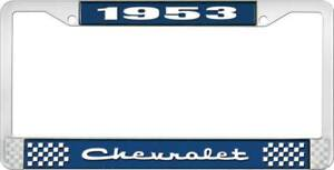 1953 Chevy Chevrolet Gm Licensed Front Rear Chrome License Plate Holder Frame