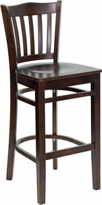 Wood Restaurant Bar Stool Barstools Classico Commercial Stools Vertical Cushion