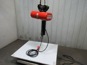 Cm Lodestar Model L 1 Ton Electric Chain Hoist 16fpm Push Trolley 20 9 Lift