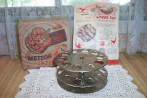 Vintage Hot Dog Maker Lazee Dog Dual Rotater Atomic Meteor Nos In Box Home Use