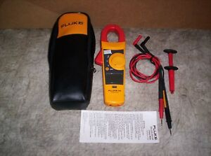 Nice Fluke 334 Clamp Meter With Probes Carry Case Manual Guaranteed Working