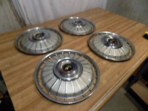 1962 Ford Galaxie 14 Hubcaps Set X4 500 Convertible Sedan 1963 64 Sunliner Xl