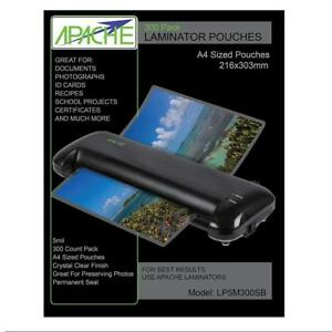 Apache Laminating Pouches 5 Mil 5mil Letter 300 Pack