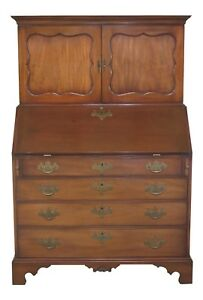 43405e Kittinger Colonial Williamsburg Cw 1 Mahogany Slant Front Desk