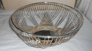 Fb Rogers Silver Wire Basket Bowl