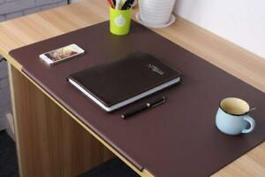 Lohome Deskmat_brown Desk Pads Artificial Leather Laptop Mat With Fixation