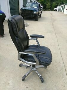 Black And Silver Rolling Office Chair