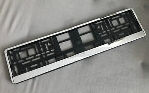 European License Number Plate Euro Frame Tag Holder Mount Shipping Free Chrome